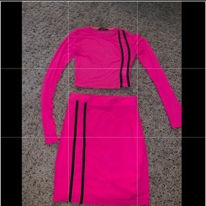 Fashion Nova Hot Pink Two Piece Set